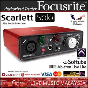 Focusrite Scarlett Solo (2nd Gen) 2in/2out USB