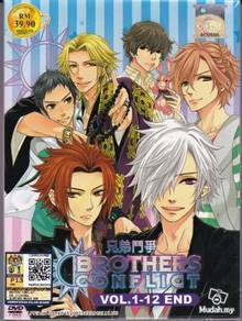 DVD ANIME BROTHERS CONFLICT BroCon Vol.1-12End