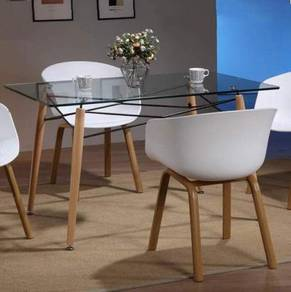 Dining Table With Glass Top YGCDT-11102DTL 1380CL