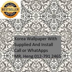 Wall paper Install at Living Space 45hn54jn