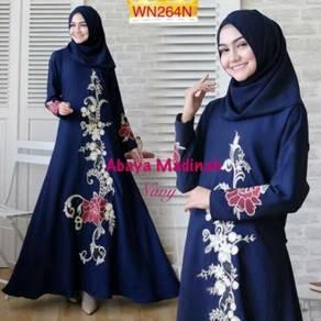 Abaya Madinah maxi sulam dress long sleeve