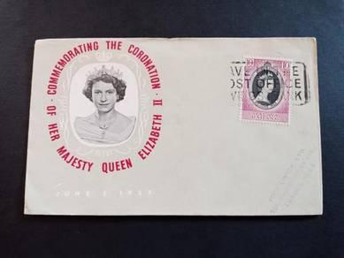 FDC PAHANG Coronation 1953 X543
