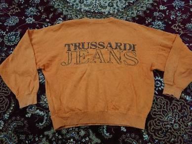 TRUSSARDI SWEATSHIRT EMBROIDERED size 46