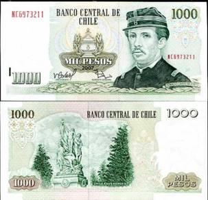 Chile 1000 pesos 2007 p 154 unc