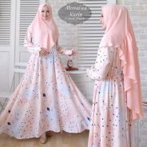 Karin syari dress tudung long sleeve Muslimah