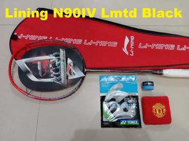 Raket Badminton Lining N90IV Black Edition