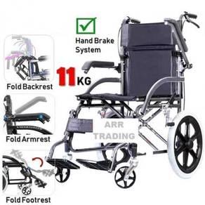 Wheelchair kerusi roda ringan 11 kgs baru
