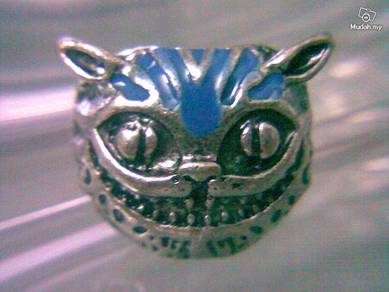 ABRSM-C007 Fashion Cheshire Cat Silver Ring Size 6