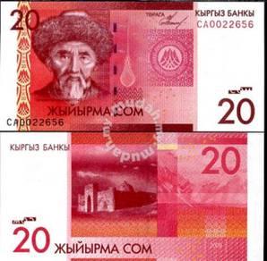 Kyrgyzstan 20 som 2009 p 24 unc