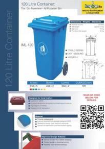 Recycle bin wheeled bin 120L 240L 660L 1100L