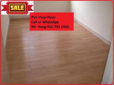 Natural Wood PVC Vinyl Floor - With Install dfjk73