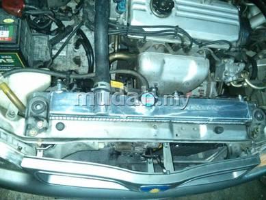Radiator Wira Saga Iswara Full Aluminium dan Biasa