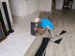 Vinyl Floor Lantai Timber Laminate PVC Floor s48
