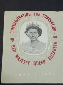 FDC KEDAH Coronation 1953 No 3101