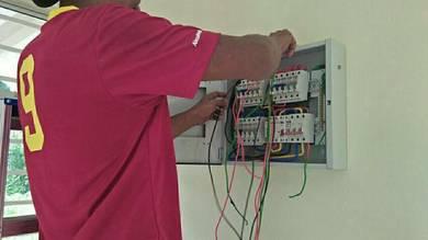 Pendawaian elektrik dan pasang aircond
