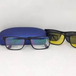 EZ Clip eyewear with Polarized & Yellow Clip On