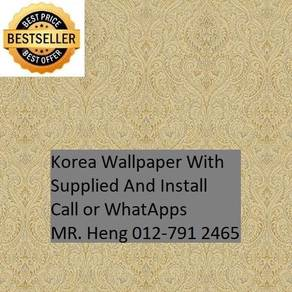 Wall paper Install at Living Space 35yh53h