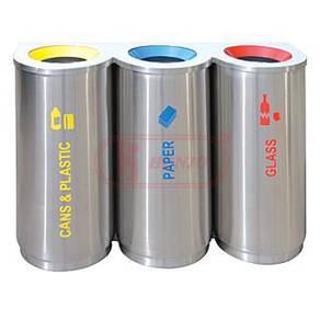 Stainless steel recycle bin 3 in 1