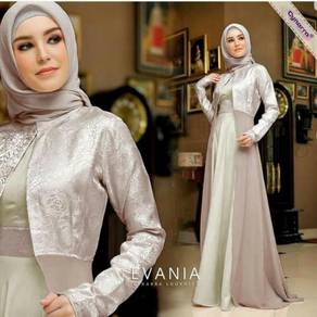 Evania maxi dress long sleeve Muslimah glitter