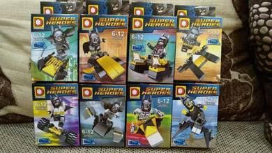 Batman minifigure set lego compatible clear stok