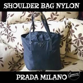 Shoulder Bag Nylon Pr4d4 Milan0