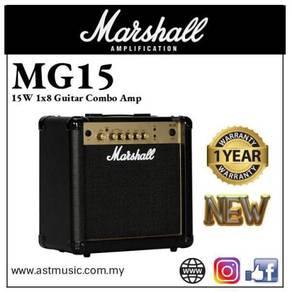 Marshall MG-15 mg15 Gold15w Combo Guitar Amplifier