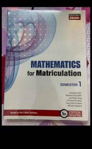 Mathematics for Matriculation (Semester 1)