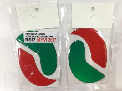Perodua myvi 2017-2018 logo epoxy with reflector