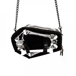 Black vampire halloween skeleton bag RBHB001