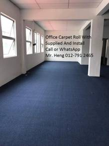 Plain Design Carpet Roll - with install 34y5h3h