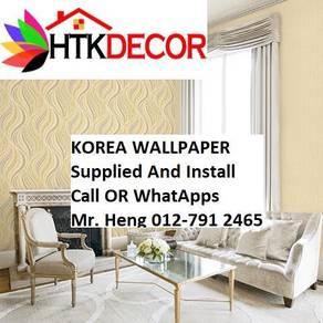 PVC Vinyl Wall paper with Expert Install 67KLW