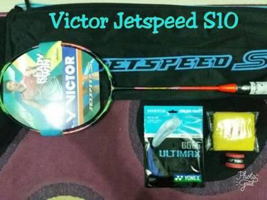 Raket Victor Jet Speed S10 & Lining N90IV Black