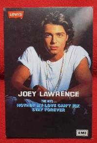 Joey Lawrence Official LEVI'S / EMI Postcard