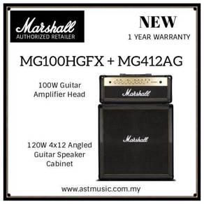 Marshall MG100HCFX + MG412AG Head And Cabinet Amp