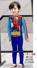 Baju renang swimsuit Long Sleeves SW141 SPIDERMAN