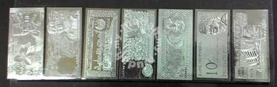 Silver plated banknote