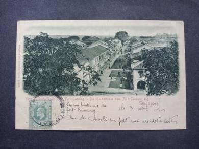 Postcard Fort Canning TAX 1902 PC 2746
