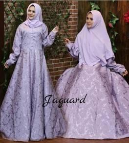 Maxi dress long sleeve Muslimah glitter Jaguard
