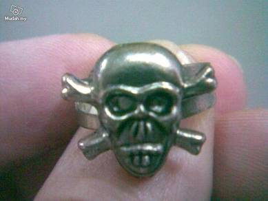 ABRSMF-S001 Cool Style Skull_01 Silver Metal Ring