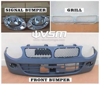 NEW Kancil belalang 2002 bumper bulat signal grill
