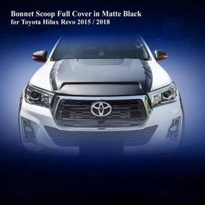 Toyota Hilux Rocco Revo black Bonnet Scoop