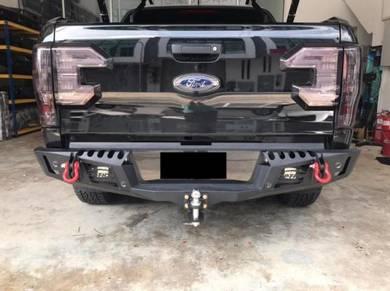Ford Ranger Hilux Revo 4x4 Rear Steel Bumper