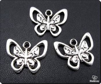 ABPSM-B007 Silver Metal Cute Butterfly Pendant
