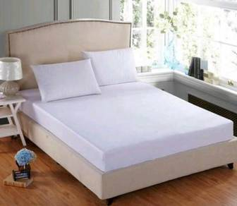 Bed sheet hotel cotton white