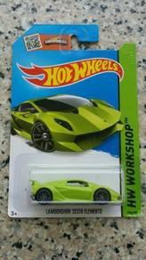 HotWheels Lamborghini Sesto Elemento Green
