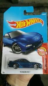 HotWheels '95 Mazda RX-7 Blue