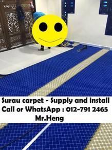 Modern Surau/Masjid Carpet Siap Pasang YL99