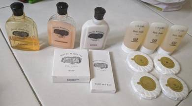 Majestic and Evergreen hotel lotion toiletries