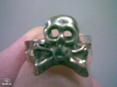 ABRSMF-S004 Cool Style Skull_04 Silver Metal Ring