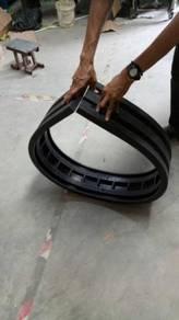 Rubber column protector guard flexible type